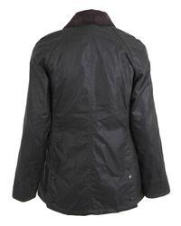 Barbour Black Khaki Beadnell Waxed Cotton Jacket