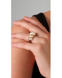 Belle Noel - Metallic Rams Horn Ring - Lyst