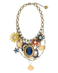 Betsey Johnson   Multicolor Mermaids Tale Charm Bib Necklace   Lyst