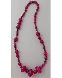 Bluma Project | Pink Ola Paper Bead Necklace | Lyst