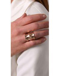 DANNIJO | Pink Jacinda Rose Gold Ring | Lyst