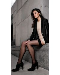 Falke - Black Pure Matte 20 Stay Up Tights - Lyst