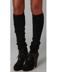 Falke | Black Striggings Plain Legwarmers | Lyst