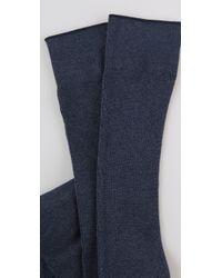 Falke Blue Classic Knee High Socks