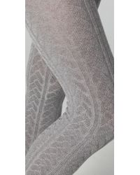 Falke Gray Striggings Cable Tights