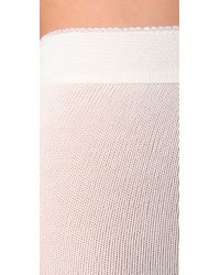 Falke White Striggings Cable Knit Tights