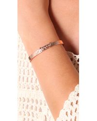Fallon - Pink Small Adored Id Cuff - Lyst