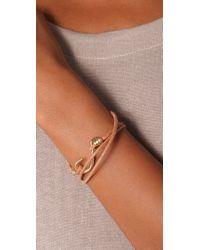 Giles & Brother - Metallic Hook Wrap Bracelet - Lyst