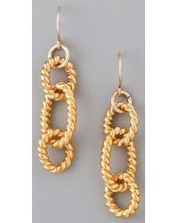 Gorjana | Metallic Rope Drop Earrings | Lyst