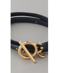 Gorjana - Blue Graham Studded Leather Wrap Bracelet - Lyst