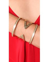House of Harlow 1960 - Metallic Textured Cutout Cuff - Lyst