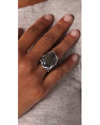 House of Harlow 1960 - Metallic Antler Ring with Oval Cabochon - Lyst