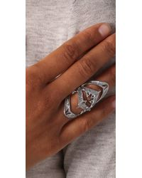 House of Harlow 1960 - Metallic Armor Claw Ring - Lyst