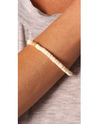 Jacquie Aiche - White Indian Bead Bone Bracelet - Lyst