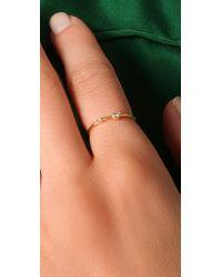 Jacquie Aiche | Metallic Double Diamond Waif Ring | Lyst
