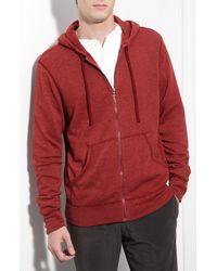 James Perse | Red Vintage Fleece Hoodie for Men | Lyst