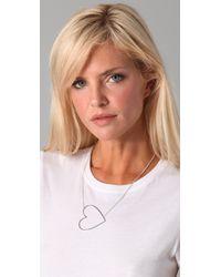 Jennifer Zeuner - Metallic Large Open Heart Necklace - Lyst