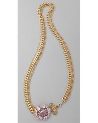 Juicy Couture | Metallic Gemstone Necklace | Lyst