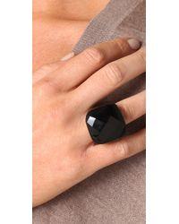 Kenneth Jay Lane   Black Onyx Square Ring   Lyst