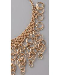 Kenneth Jay Lane - Metallic Circle Link Drop Bib Necklace - Lyst
