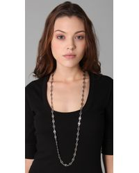 Low Luv by Erin Wasson - Metallic Long Evil Eye Necklace - Lyst
