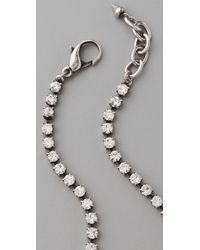 Lulu Frost - Metallic Short Crystal Quill Necklace - Lyst