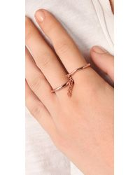 Made Her Think | Pink Two Finger Chain Ring | Lyst