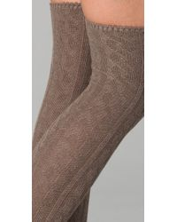 Madewell Brown Cable Knit Over The Knee Socks