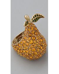 Marc By Marc Jacobs | Metallic 10th Anniversary Pear Ring | Lyst