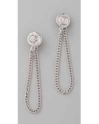 Marc By Marc Jacobs | Metallic Turnlock Earrings | Lyst