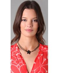 Marc By Marc Jacobs - Black Admiral Ribbon Star Necklace - Lyst