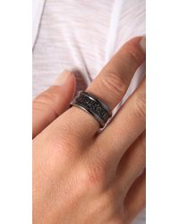 Marc By Marc Jacobs | Black Classic Marc Graphic Logo Ring | Lyst