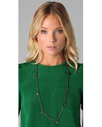 Marc By Marc Jacobs | Black Classic Marc Long Necklace | Lyst