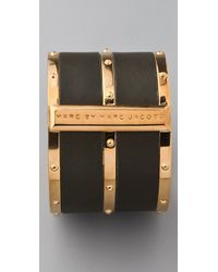 Marc By Marc Jacobs - Green Concrete Jungle Leather Bangle - Lyst