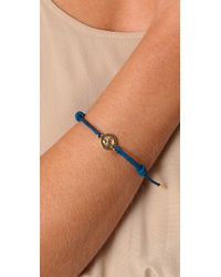 Marc By Marc Jacobs - Blue Remarcable Turnlock Friendship Bracelet - Lyst
