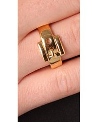 Michael Kors Metallic Jet Set Buckle Ring