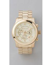 Michael Kors | Metallic Mens Oversized Watch | Lyst