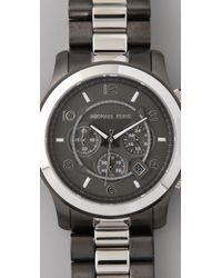 Michael Kors | Metallic Large Runway Time Teller Watch | Lyst