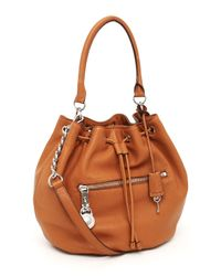MICHAEL Michael Kors | Brown Knox Drawstring Shoulder Bag, Luggage | Lyst