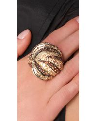 Noir Jewelry - Metallic Knot Ring - Lyst