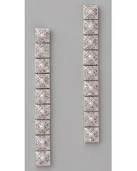 Noir Jewelry - Metallic Pyramid Earrings - Lyst
