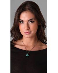 Pamela Love - Blue Turquoise Howlite Skull Pendant Necklace - Lyst