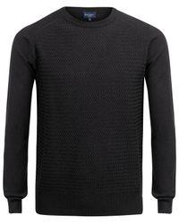 Paul Smith - Black Basket Weave Knitted Jumper for Men - Lyst