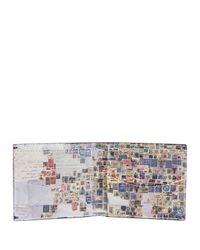 Paul Smith - Black Leather Stamp Billfold Wallet for Men - Lyst