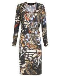 Paul Smith Black Label | Black Layered Neck Butterfly Dress | Lyst