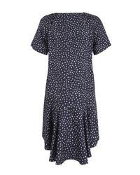 Sea - Blue Navy Star Print Silk Tea Dress - Lyst