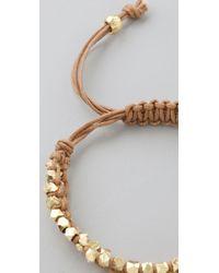 Shashi - Natural Double Petit Golden Nugget Adjustable Bracelet - Lyst