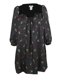 Sonia Rykiel Blue Silk Strawberry Print Dress