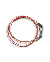 Tod's | Red 2-tone Braided Leather Bracelet for Men | Lyst