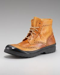 True Religion Brown Oswald Wing-tip Boot for men